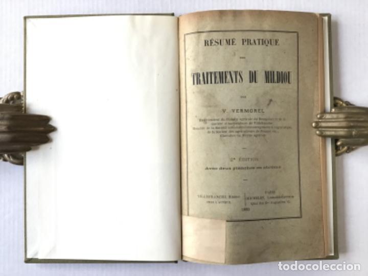 Libros antiguos: RÉSUMÉ PRATIQUE DES TRAITEMENTS DU MILDIOU. - VERMOREL, V. - Foto 2 - 276657238