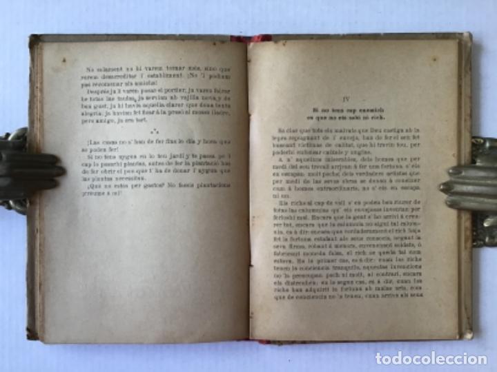 Libros antiguos: DEU DOTSENAS DE PENSAMENTS EN VERS. (Mitja dotsena dexatats en prosa.) - LLANAS, Albert. - Foto 4 - 123208672