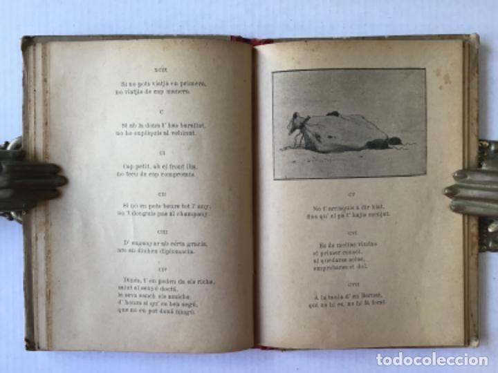 Libros antiguos: DEU DOTSENAS DE PENSAMENTS EN VERS. (Mitja dotsena dexatats en prosa.) - LLANAS, Albert. - Foto 5 - 123208672