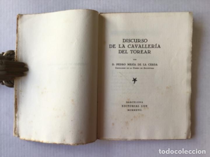 Libros antiguos: DISCURSO DE LA CAVALLERÍA DEL TOREAR. - MESÍA DE LA CERDA, Pedro. - Foto 2 - 123217666