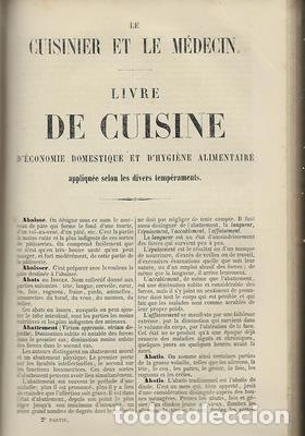 Libros antiguos: Le cuisinier et le medecin, et la medecin et le cuisinier. 2 tomos en 1 - LOMBARD L-M - Foto 3 - 276812808
