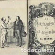 Libros antiguos: LE CUISINIER ET LE MEDECIN, ET LA MEDECIN ET LE CUISINIER. 2 TOMOS EN 1 - LOMBARD L-M. Lote 276812808