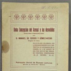Libros antiguos: 1914.- CONCEPCION ARENAL Y LOS DESVALIDOS. MANUEL COSSIO Y GOMEZ ACEVEDO. DEDICADO POR AUTOR A MAGIS. Lote 277089078