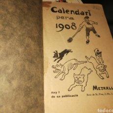 Livros antigos: CALENDARI 1908 LLIBRE CATALA. Lote 277090833