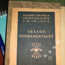 Livros antigos: FALANGE ESPAÑOLA LIBRITO TEXTOS FUNDAMENTALES. Lote 277091378