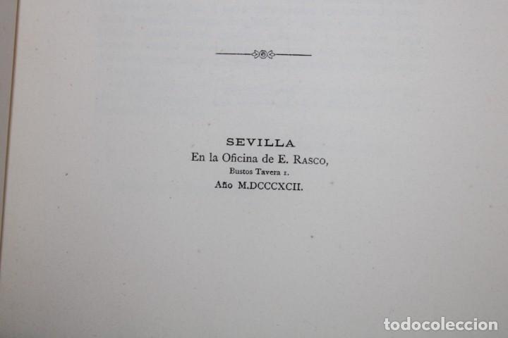 Libros antiguos: 1892 HOMENAJE DEL ARCHIVO HISPALENSE AL CUARTO CENTENARIO DEL DESCUBRIMIENTO DEL NUEVO MUNDO - Foto 5 - 277177023