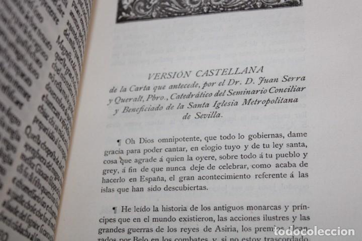 Libros antiguos: 1892 HOMENAJE DEL ARCHIVO HISPALENSE AL CUARTO CENTENARIO DEL DESCUBRIMIENTO DEL NUEVO MUNDO - Foto 10 - 277177023