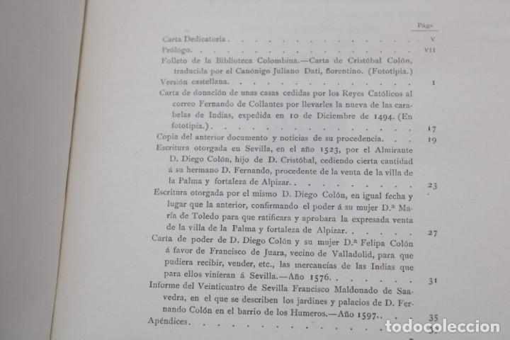 Libros antiguos: 1892 HOMENAJE DEL ARCHIVO HISPALENSE AL CUARTO CENTENARIO DEL DESCUBRIMIENTO DEL NUEVO MUNDO - Foto 13 - 277177023