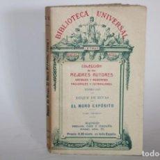 Libros antiguos: EL MORO EXPOSITO TOMO I / BIBLIOTECA UNIVERSAL / COLECCION DE LOS MEJORES AUTORES 143. Lote 277192943
