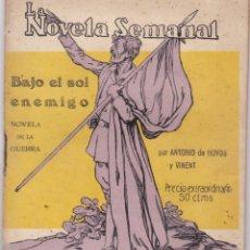 Libros antiguos: ANTONIO DE HOYOS Y VINENT: BAJO EL SOL ENEMIGO. Lote 277218348