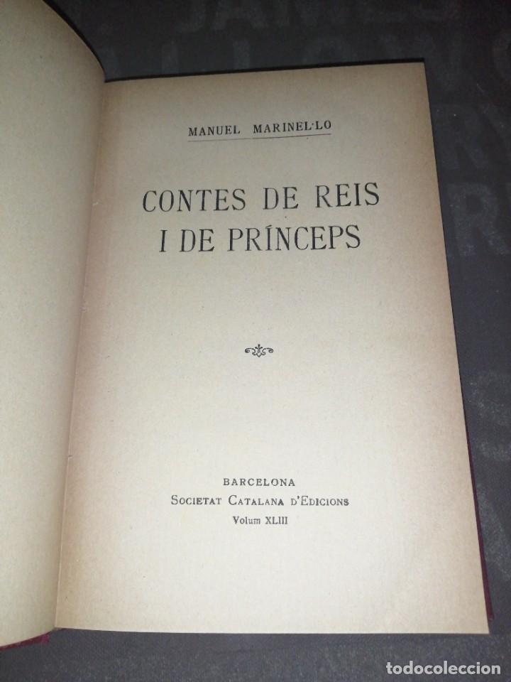 MANUEL MARINEL.LO , CONTES DE REÍS I DE PRINCEPS (Libros antiguos (hasta 1936), raros y curiosos - Literatura - Narrativa - Otros)