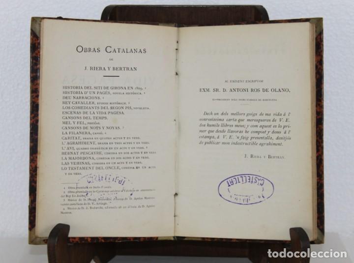 Libros antiguos: Escenas de la vida pagesa per Joaquim Riera. Impr. de la Renaixensa 1878 - Foto 2 - 277612628