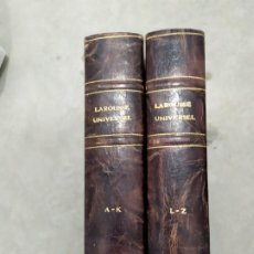 Libros antiguos: LARROUSE UNIVERSAL EN 2 TOMES GRAN FORMATO. Lote 277655793
