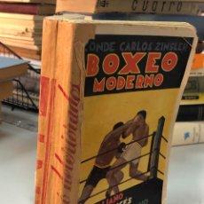 Libros antiguos: BOXEO MODERNO, ITALIANO, FRANCES, AMERICANO, ESPAÑOL, CONDE CARLOS ZINSLER 121 FOTOS ORIGINALES. Lote 277728848