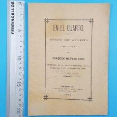 Libros antiguos: EN EL CUARTO, MONOLOGO COMICO ACADEMICO, JOAQUIN NIEVES COSO, SAMTIUSTE SEGOVIA 1888 16 PAG, MILITAR. Lote 278169973