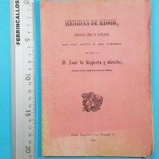Libros antiguos: MEDIDAS DE RIGOR, JOSE DE UZQUETA Y BENITEZ, ALUMNO ACADEMIA GENERAL MILITAR TOLEDO 1886 28 PAG. Lote 278177123