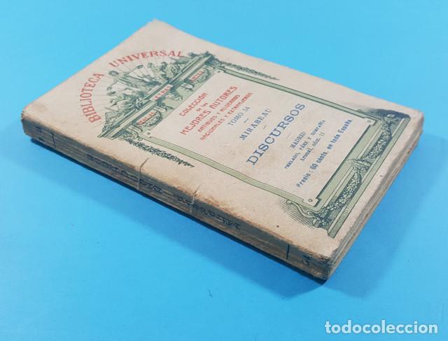 Libros antiguos: BIBLIOTECA UNIVERSAL, COLECCION MEJORES AUTORES TOMO 54: MIRABEAU DISCURSOS 1922 190 PAGINAS - Foto 2 - 278191643