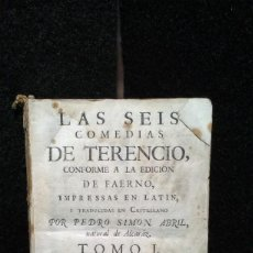 Livres anciens: LAS SEIS COMEDIAS DE TERENCIO. TOMO I. PEDRO SIMÓM ABRIL. IMP. BENITO MONFORT. 1762. Lote 278326993