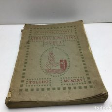 Libros antiguos: GIMNASIA EDUCATIVA SUECA - RODRIGO SUAREZ ALVAREZ - CAPITAN DE INFANTERIA - TOLEDO 1925. Lote 278340633