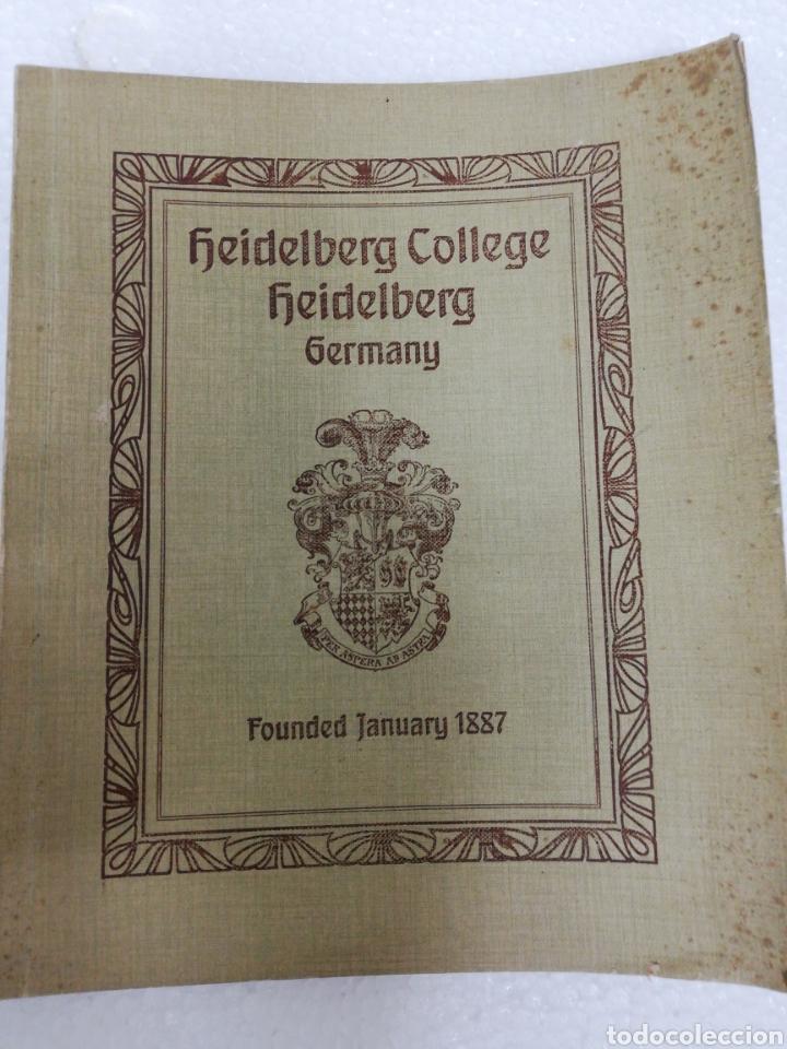 LIBRO ALEMÁN HEIDELBERG COLLEGE. GERMANY. FOUNDED JANUARY. 1887. (Libros Antiguos, Raros y Curiosos - Otros Idiomas)