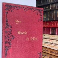 Libros antiguos: ANTIGUO MÉTODO DE SOLFEO SIN ACOMPAÑAMIENTO DIVIDIDO EN 4 PARTES POR HILARIÓN ESLAVA - LIBRO MÚSICA. Lote 278398348