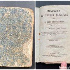 Libros antiguos: COLECCION DE TROZOS ESCOGIDOS. ALEJANDRO GOMEZ. 3ª ED. MADRID, 1859. PAGS: 212. Lote 278411283