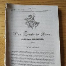 Libros antiguos: CONJUNTO DE NUMEROS DEL PETIT COURRIER DES DAMES, 26 NUMEROS. AÑO 1833 MUY RAROS.. Lote 278943478