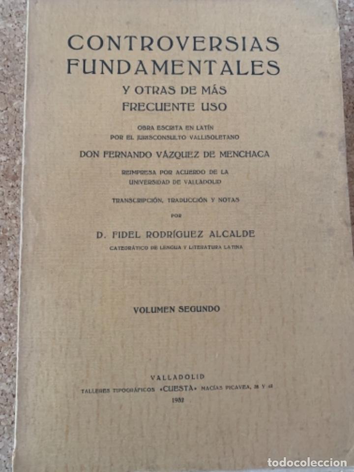 Libros antiguos: Controversias Fundamentales y otras de más Frecuente uso, cuatro tomos - Foto 2 - 279448243