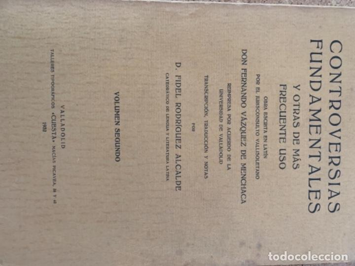 Libros antiguos: Controversias Fundamentales y otras de más Frecuente uso, cuatro tomos - Foto 3 - 279448243