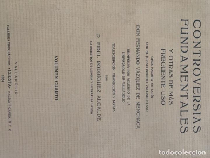 Libros antiguos: Controversias Fundamentales y otras de más Frecuente uso, cuatro tomos - Foto 5 - 279448243