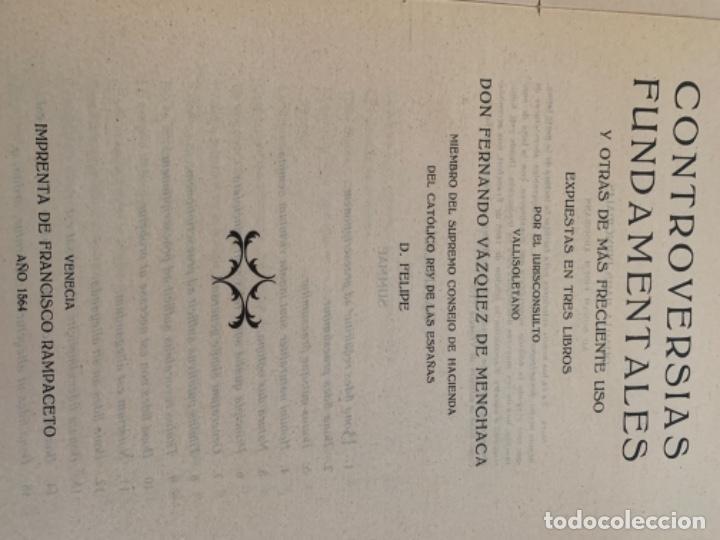 Libros antiguos: Controversias Fundamentales y otras de más Frecuente uso, cuatro tomos - Foto 6 - 279448243