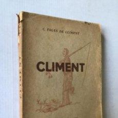 Libros antiguos: CLIMENT. - FAGES DE CLIMENT, CARLES.. Lote 123185962