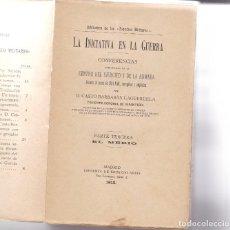 Libros antiguos: CASTRO BARBASÁN: INICIATIVA PARA LA GUERRA. PARTE TERCERA: EL MEDIO. Lote 279524248