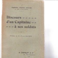 Libros antiguos: CHARLES JACOB: DISCOURS D'UN CAPITAIN A SES SOLDATS. Lote 279524643