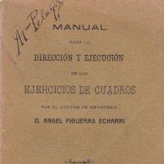 Libros antiguos: ÁNGEL FIGUERAS: MANUAL PARA LA DIRECCIÓN Y EJECUCIÓN DEL EJERCICIO DE CUADROS. Lote 279525633