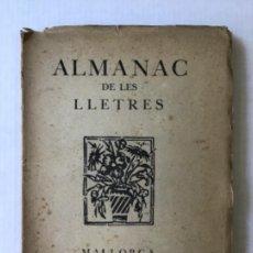 Libros antiguos: ALMANAC DE LES LLETRES. ANY XII DE SA PUBLICACIÓ.. Lote 123138935