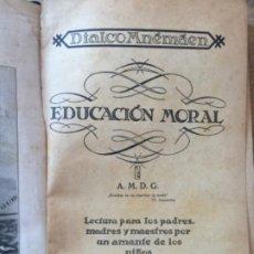 Libros antiguos: EDUCACIÓN MORAL, DIALCO MNÉMÁEN, KONRAD HANF, 1923. Lote 280391628