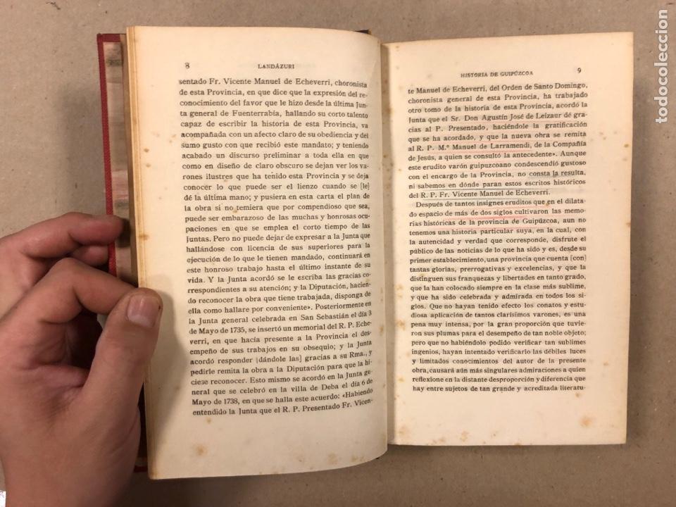 Libros antiguos: HISTORIA DE GUIPÚZCOA. JOSÉ JOAQUÍN DE LANDÁZURI. 2 TOMOS EN 1 VOLUMEN. 1921 IMP. VICENTE RICO - Foto 5 - 281937558