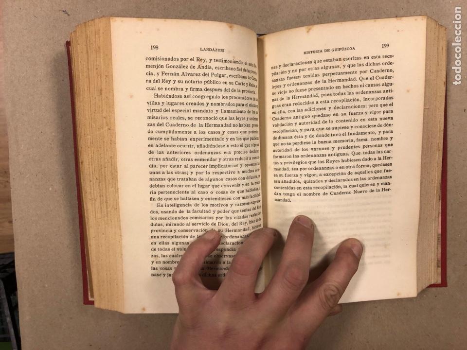 Libros antiguos: HISTORIA DE GUIPÚZCOA. JOSÉ JOAQUÍN DE LANDÁZURI. 2 TOMOS EN 1 VOLUMEN. 1921 IMP. VICENTE RICO - Foto 7 - 281937558