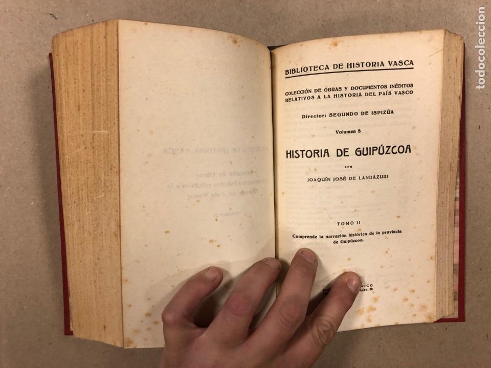 Libros antiguos: HISTORIA DE GUIPÚZCOA. JOSÉ JOAQUÍN DE LANDÁZURI. 2 TOMOS EN 1 VOLUMEN. 1921 IMP. VICENTE RICO - Foto 9 - 281937558