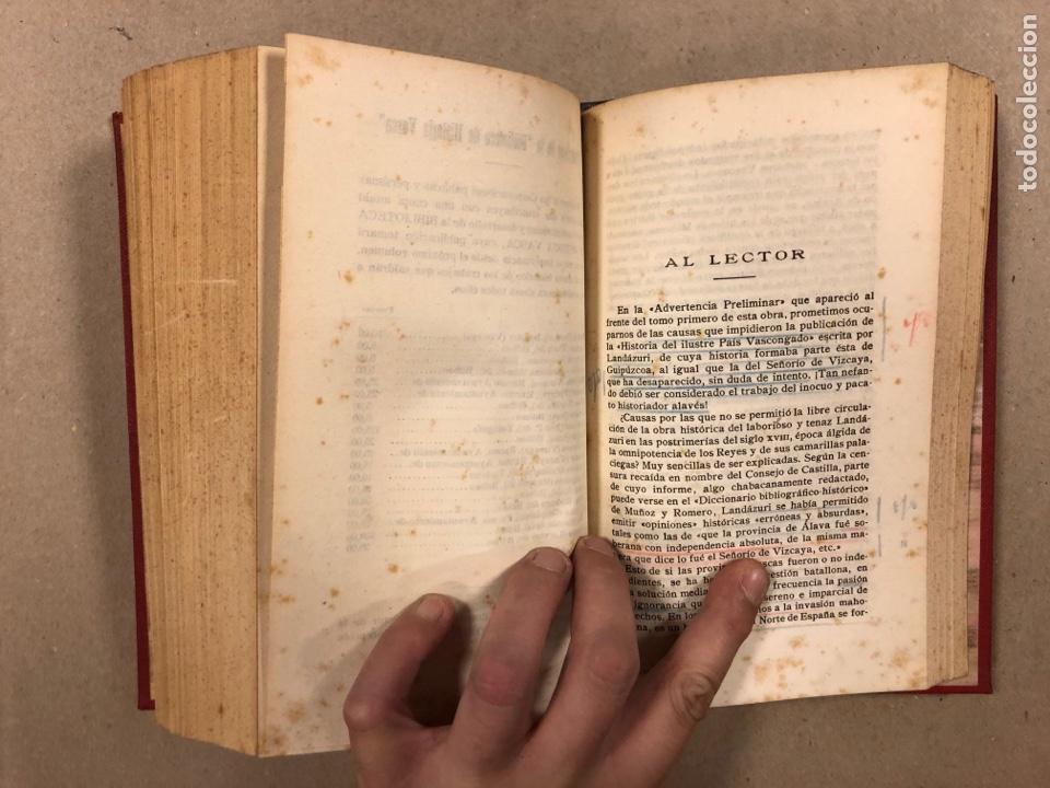Libros antiguos: HISTORIA DE GUIPÚZCOA. JOSÉ JOAQUÍN DE LANDÁZURI. 2 TOMOS EN 1 VOLUMEN. 1921 IMP. VICENTE RICO - Foto 10 - 281937558