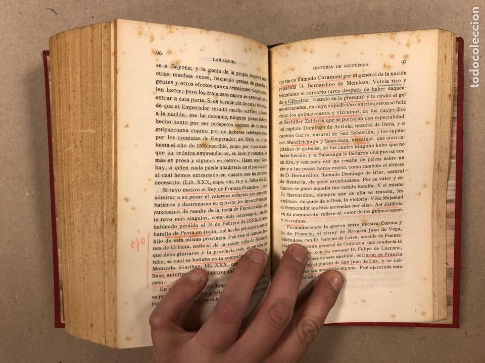 Libros antiguos: HISTORIA DE GUIPÚZCOA. JOSÉ JOAQUÍN DE LANDÁZURI. 2 TOMOS EN 1 VOLUMEN. 1921 IMP. VICENTE RICO - Foto 11 - 281937558