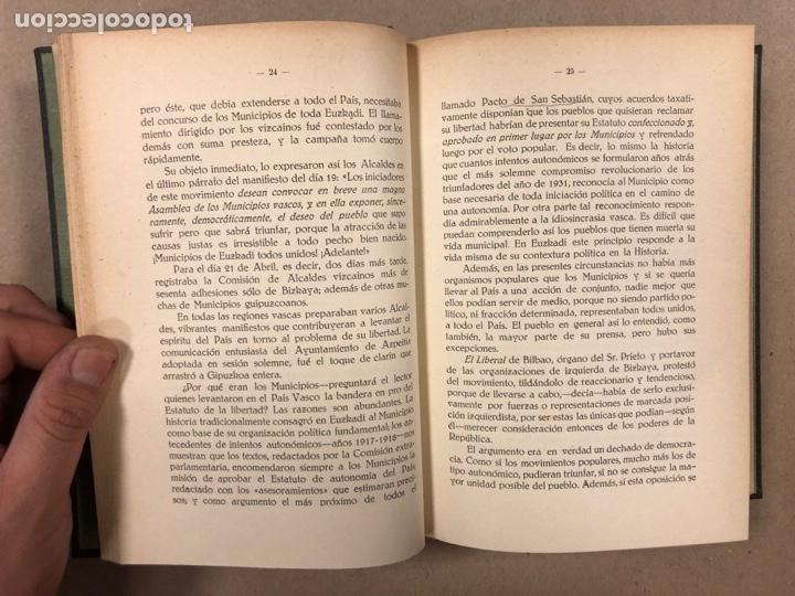 Libros antiguos: ENTRE LA LIBERTAD Y LA REVOLUCIÓN (1930-1935). JOSÉ ANTONIO DE AGIRRE Y LEKUBE. - Foto 6 - 281938733