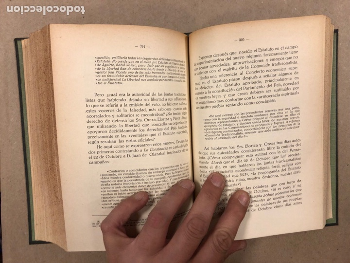 Libros antiguos: ENTRE LA LIBERTAD Y LA REVOLUCIÓN (1930-1935). JOSÉ ANTONIO DE AGIRRE Y LEKUBE. - Foto 10 - 281938733