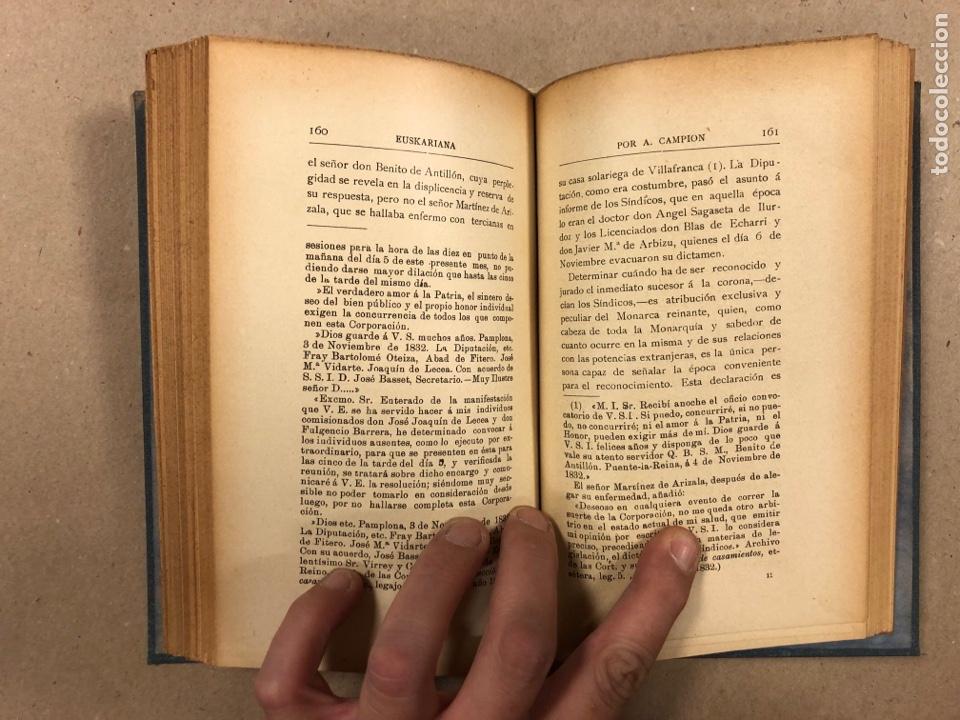 Libros antiguos: EUSKARIANA (PARTE TERCERA) ALGO DE HISTORIA. ARTURO CAMPION. Imp. y Enc. de ANDRÉS P. (1899). - Foto 9 - 281947038