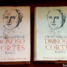 Livres anciens: OBRAS COMPLETAS DE DONOSO CORTÉS - 2 VOL. 1946. Lote 282550278