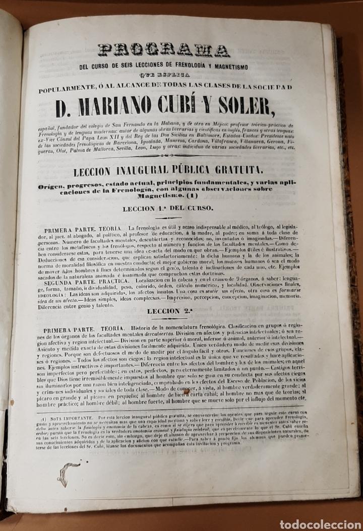 Libros antiguos: M. CUBÍ I SOLER. LA ANTORCHA. SEMANARIO ENCICLOPÉDICO. 1848-1849. DEL 1 AL 64. - Foto 4 - 283164103