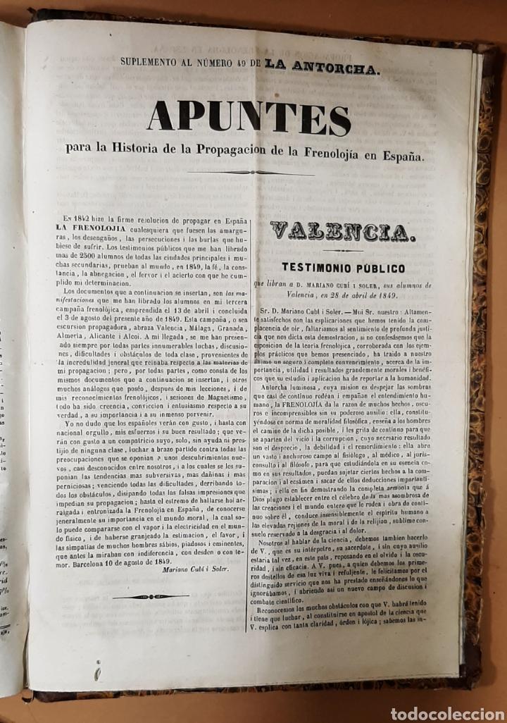 Libros antiguos: M. CUBÍ I SOLER. LA ANTORCHA. SEMANARIO ENCICLOPÉDICO. 1848-1849. DEL 1 AL 64. - Foto 6 - 283164103