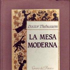 Libros antiguos: LA MESA MODERNA. DOCTOR THEBUSSEM, (SEUD. DE MARIANO PARDO DE FIGUEROA. EDITORIAL LAIA, BARNA, 1. Lote 283728288