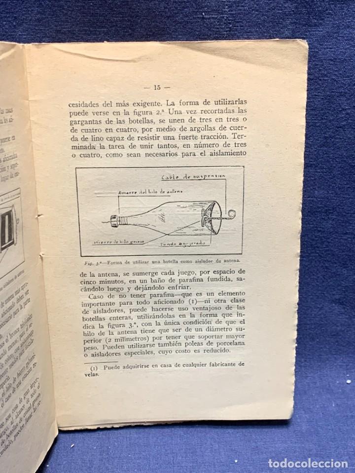 Libros antiguos: LA RADIOTELEFONIA PRACTICA AMADOR RODRIGUEZ GUERRA MADRID 1924 ED MARINEDA 19X13CMS - Foto 8 - 283768408